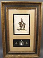 MILITARY SHADOW BOX PRINT. Cheval Normand mounted