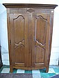 LOUIS XV STYLE FRENCH CARVED PROVINCIAL ARMOIRE.