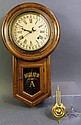ANTIQUE AMERICAN WALL REGULATOR CLOCK. With