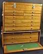 GERSTNER TYPE MACHINIST'S TOOL CHEST. Two part, 13