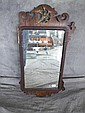 PERIOD CHIPPENDALE MAHOGANY SCROLL MIRROR. With
