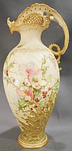 TEPLITZ WEIN-MADE IN AUSTRIA EWER.  Hand painted.  15 1/2
