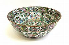 Qing Chinese Porcelain Punch Bowl