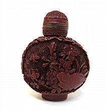 Qing Cinnabar Lacquer Snuff