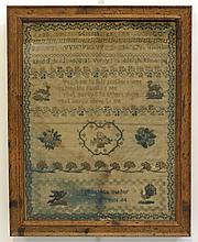 19th C Sampler Helen M. Barber