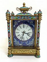 Cloisonné & Enamel Carriage Clock