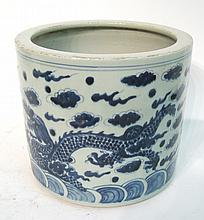 Large Chinese Porcelain Brush Pot