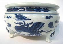 Chinese Blue & White Cencer