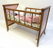 Vintage Baby Doll Set With Cradle