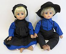Pair Of  Amish Dolls