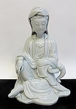 Blanc Glazed Quanyin Figure