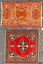 Turkish Yastik rug and an antique Feraghan rug