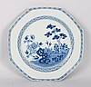 Chinese Export blue and white porcelain plate