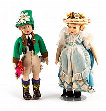 Lenci Tyrolean boy and girl doll