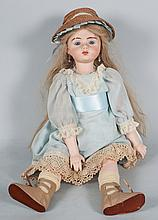 Contemporary painted bisque porcelain doll
