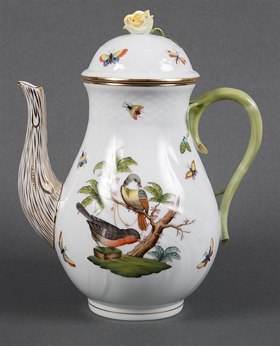 Herend porcelain coffee pot in the