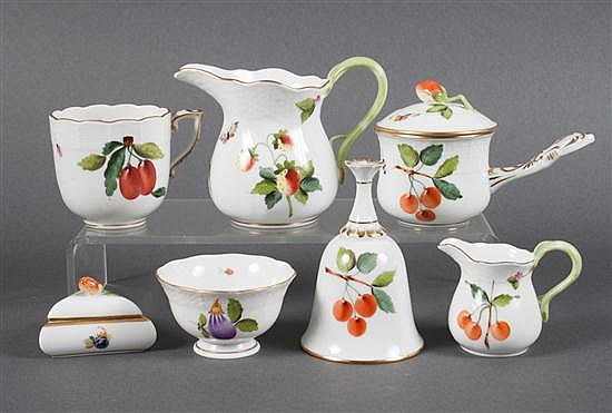 Seven Herend porcelain articles in the