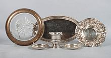 Six  American sterling silver table items