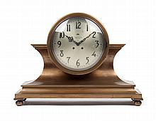 Art Deco bronze mantel clock