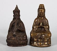 Two orientalia metal figures