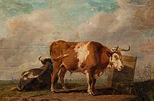 Eugene Verboeckhoven. Cattle in Landscape, oil