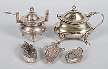 Three miniature sterling scent bottles