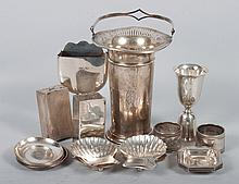 Seventeen sterling silver table articles