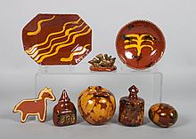 Large assortment of contemporary redware items
