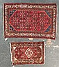 Two Hamadan rugs, approx. 2.1 x 3.1 & 3.4 x 5.1