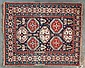 Fine antique Konagend rug, 4 x 4.10