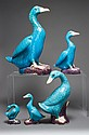 Five assorted Chinese Export porcelain duck figures