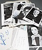 [Autographs: Television] About 45 signed photos or cards from various actors and actresses