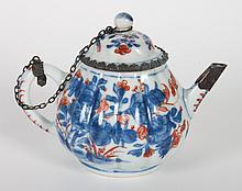Chinese imari porcelain miniature teapot