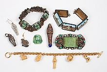Group of Egyptian style costume jewelry