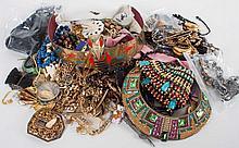 Bag of costume jewelry