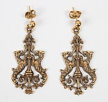 Pair of Renaissance style gold earrings