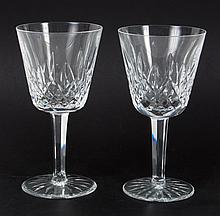 Eight Waterford crystal wine stems