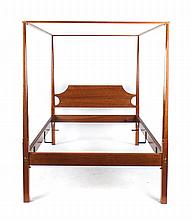 Cabinet made cherrywood double tester bedstead