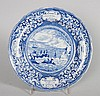 Enoch Wood Staffordshire blue transfer plate