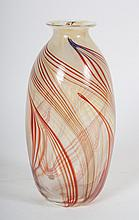 American mold blown art glass vase