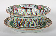 Chinese Export porcelain basket and underplate