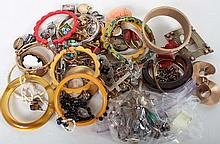 Bag of assorted vintage jewelry items