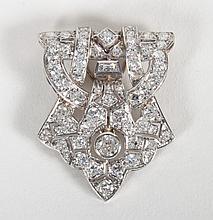 Art Deco platinum and diamond clip