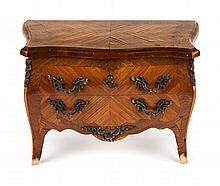 Louis XV style miniature commode-form jewelry box
