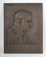 James Earle. Fraser. T. Roosevelt bronze plaque