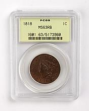 United States Matron type copper large cent, 1818