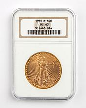United States gold double eagle ($20), 1910-D