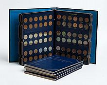 Five United States Lincoln type cent albums