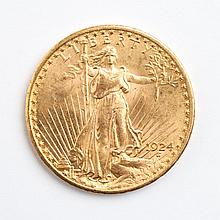 U.S. St. Gaudens type gold double eagle, 1924