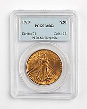 United States gold double eagle ($20), 1920